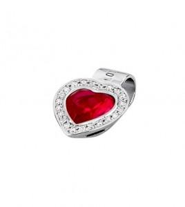 colante lotus silver corazon rojo