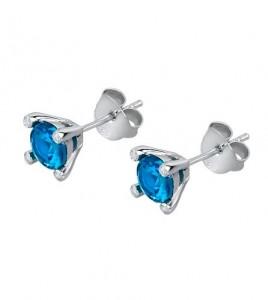pendientes azules garras lotus silver