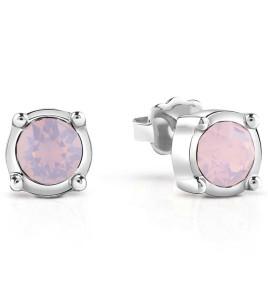 pendientes guess piedra rosa