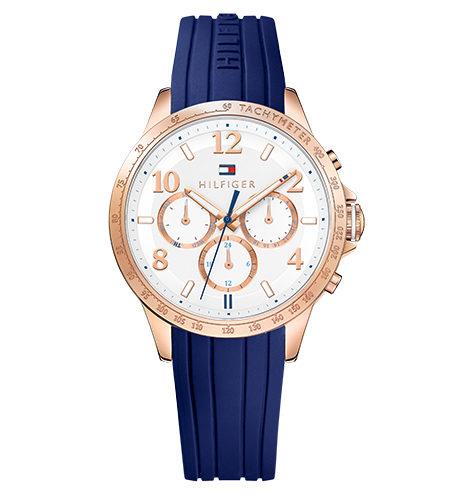 reloj tommy mujer correa caucho azul
