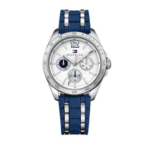 reloj tommy correa caucho azul