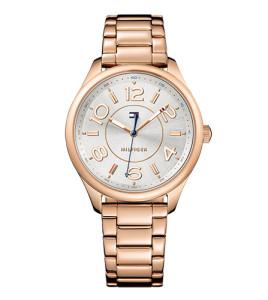 reloj tommy acero chapado rose