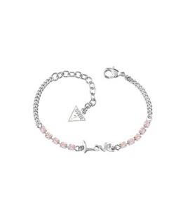 pulsera guess love piedras rosas