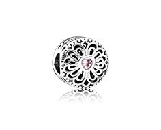 charm pandora corazon circonita rosa