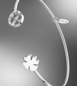 pulsera trebol lotus silver