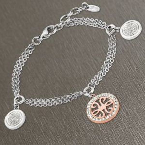 lotus style pulsera tribal cobre