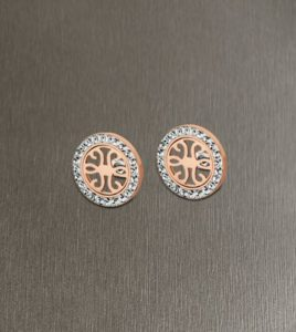 pendientes tribal lotus style cobre
