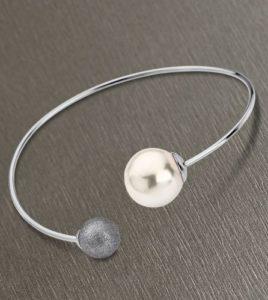 pulsera lotus style perla gris