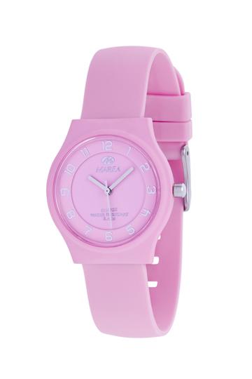 reloj marea esfera rosa numeros
