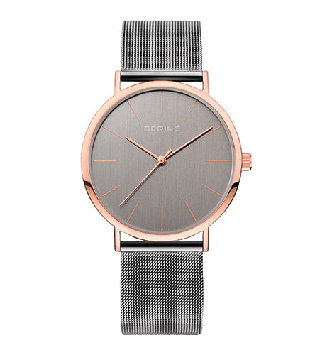 reloj bering acero gris