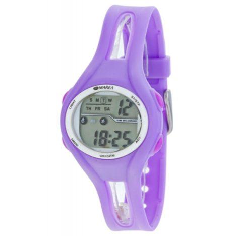 reloj digital marea lila