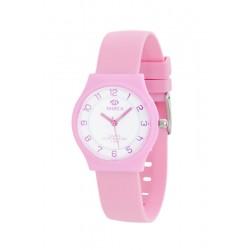 reloj marea esfera blanca correa rosa