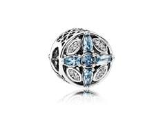 charm pandora circonita y cristal azul