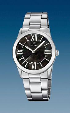 reloj festina señora esfera negra