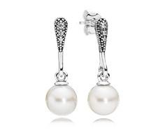 pendientes pandora perla