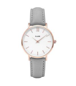 reloj cluse caja 33 correa gris