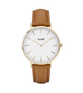reloj cluse caja dorada
