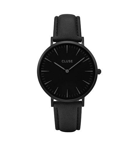 reloj cluse negro