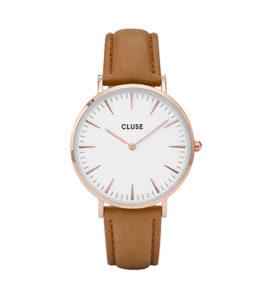 reloj cluse caja con correa piel