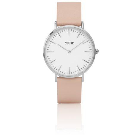 reloj cluse caja 33 correa rosa