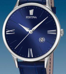 reloj festina azul