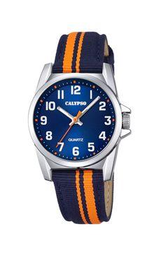 reloj calypso niño rayas naranjas