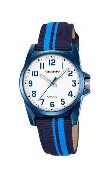 reloj calypso rayas azules