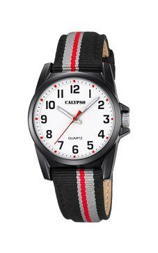 reloj calypso rayas rojas