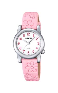 reloj calypso correa piel rosa