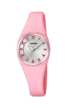 reloj calypso goma rosa claro