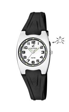 reloj negro calypso con luz