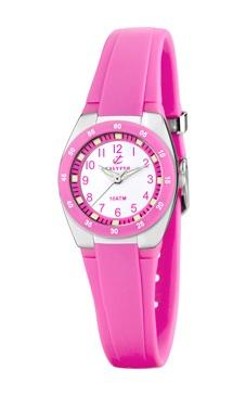 reloj goma rosa calypso