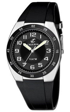 reloj calypso numeros esfera negra