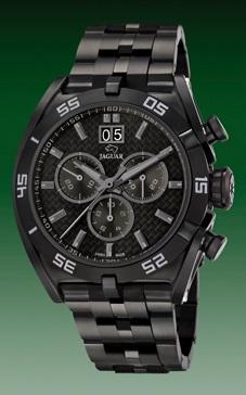 reloj jaguar acero pabonado negro