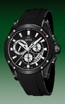 reloj jaguar caja chapada negra