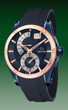 reloj jaguar correa caucho azul