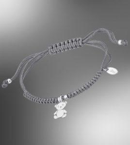 pulsera hilo gris lotus silver