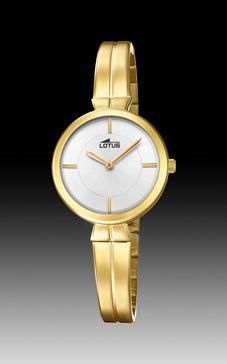 reloj lotus redondo dorado