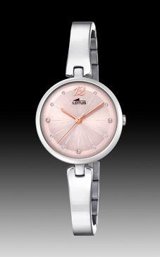 reloj lotus señora esfera rosa