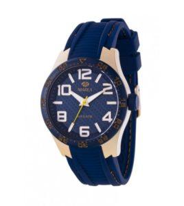 reloj marea caucho azul marino hombre