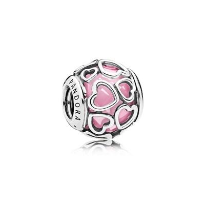 charm pandora coracones rosas