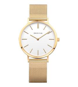 reloj bering mujer acero dorado