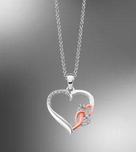 colgante corazon lotus silver