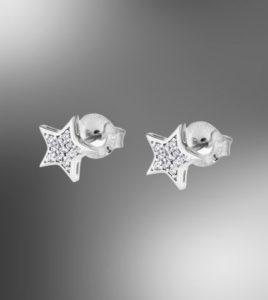 pendientes estrellas lotus silver