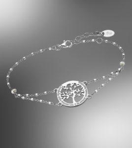 pulsera arbol de la vida lotus silver