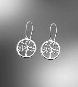 pendientes arbol lotus silver