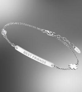 pulsera lotus silver best friends