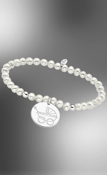 pulsera perlas carrito lotus silver