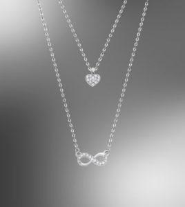 colgante lotus silver infinito corazon