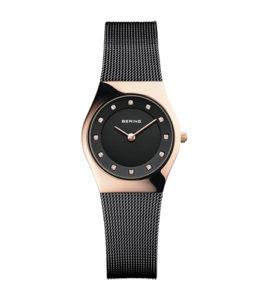 reloj bering mujer malla negra